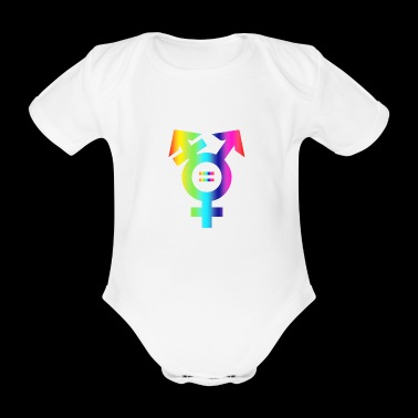 Make love no was love CSD Cologne Gender Homoehe - Organic Short-sleeved Baby Bodysuit