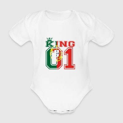 land partner king 01 prince PORTUGAL portugese - Baby Bio-Kurzarm-Body