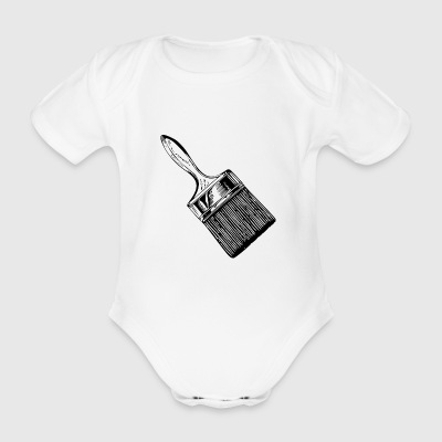 brush - Organic Short-sleeved Baby Bodysuit