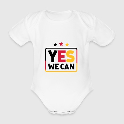 Yes we can Black Red Gold Germany soccer fan - Organic Short-sleeved Baby Bodysuit