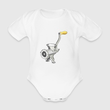 meat grinder - Organic Short-sleeved Baby Bodysuit