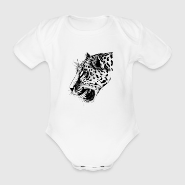 leopard - Organic Short-sleeved Baby Bodysuit