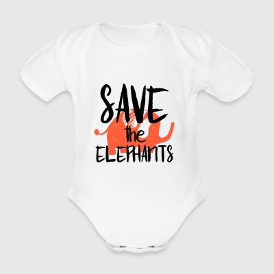 Save the Elephants - Body bébé bio manches courtes