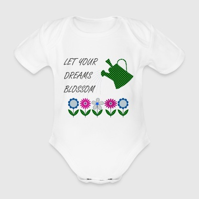 flowers - Organic Short-sleeved Baby Bodysuit