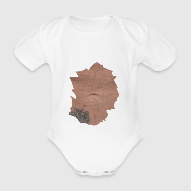 belly - Organic Short-sleeved Baby Bodysuit