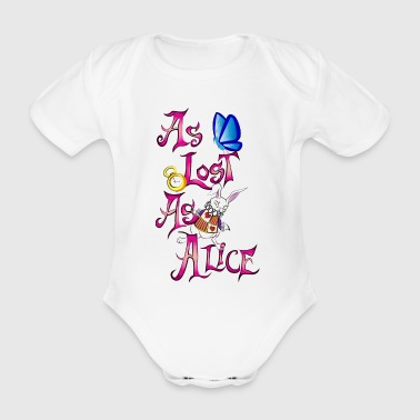 As lost as alice - Organic Short-sleeved Baby Bodysuit