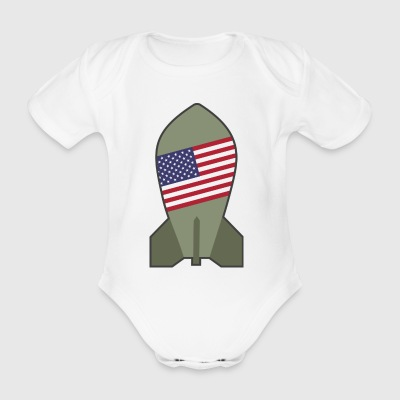 atomic bomb - Organic Short-sleeved Baby Bodysuit