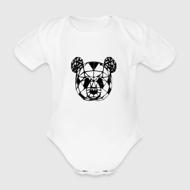 panda - Organic Short-sleeved Baby Bodysuit