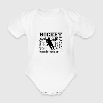 Puck slap victory - Organic Short-sleeved Baby Bodysuit