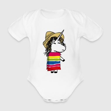Mexican Unicorn - Organic Short-sleeved Baby Bodysuit