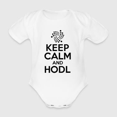 IOTA - Keep calm and hodl - Organic Short-sleeved Baby Bodysuit