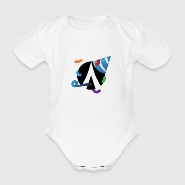 Dentacoin Party - Organic Short-sleeved Baby Bodysuit