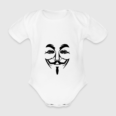 Anonymous Mask PNG Picture - Organic Short-sleeved Baby Bodysuit