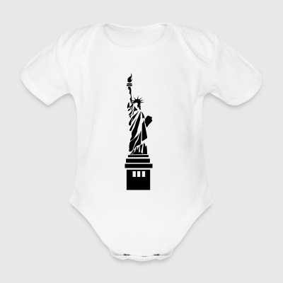 statue - Organic Short-sleeved Baby Bodysuit