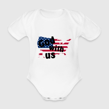 God with us - Organic Short-sleeved Baby Bodysuit
