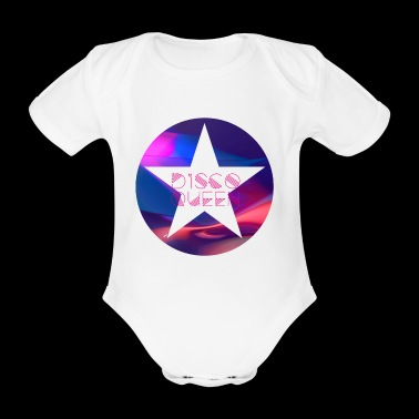 disco queen dance ny star dance 80s dab 70s - Organic Short-sleeved Baby Bodysuit