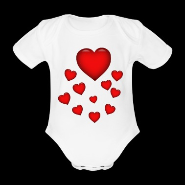 Love heart, heart, heart balloon wedding gift - Body ecologico per neonato a manica corta