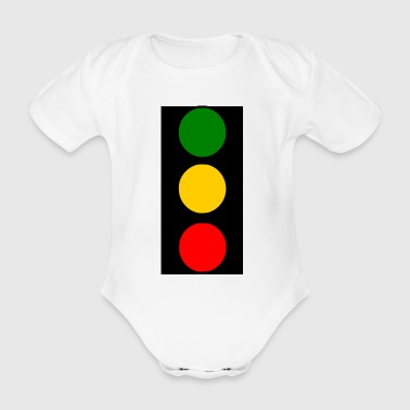 traffic lights - Organic Short-sleeved Baby Bodysuit