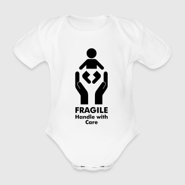 Baby - Fragile - Handle with Care - Baby Bio-Kurzarm-Body