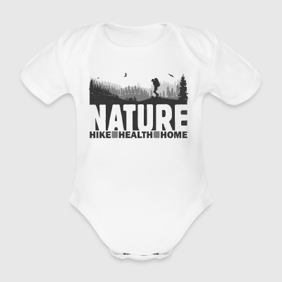 SHIRT FOREST Hike WhiteT - Body ecologico per neonato a manica corta