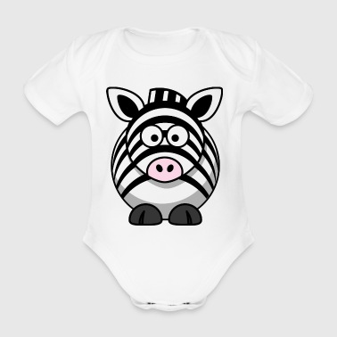 Zebra Cartoon - Baby Bio-Kurzarm-Body