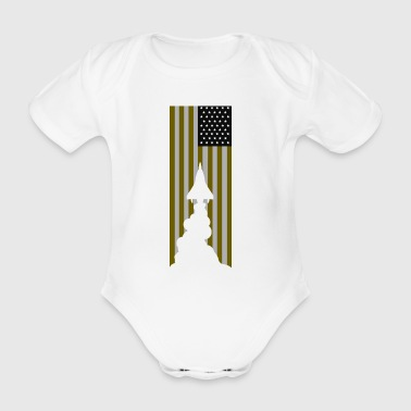 flag - Organic Short-sleeved Baby Bodysuit