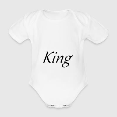 King - Organic Short-sleeved Baby Bodysuit