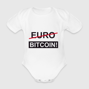 Euro Bitcoin - Organic Short-sleeved Baby Bodysuit