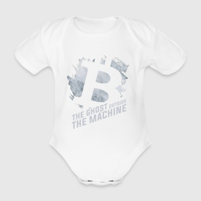 The Ghost Outside the Machine - Bitcoin - Baby bio-rompertje met korte mouwen