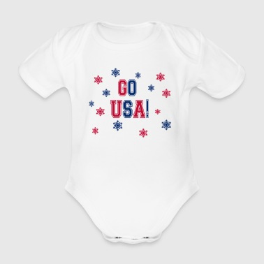 Winter Games - Gå USA! - Ekologisk kortärmad babybody