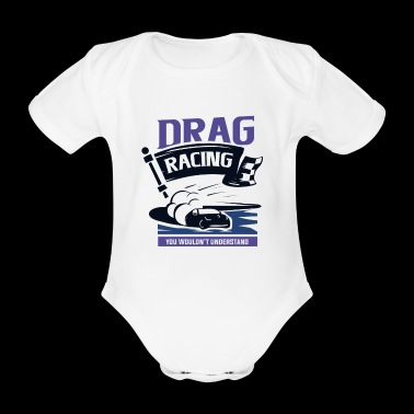 Dragster acceleration race - Organic Short-sleeved Baby Bodysuit