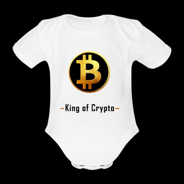 Bitcoin - King of Crypto T-Shirt by Blockawear - Baby Bio-Kurzarm-Body