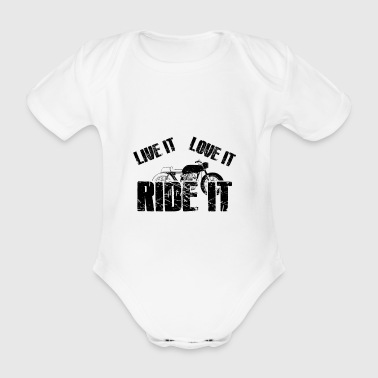 Motorcycle Bike Moped Moped driving turf heating chrome - Organic Short-sleeved Baby Bodysuit