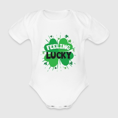 Feeling Lucky Awesome Shirt - Body ecologico per neonato a manica corta