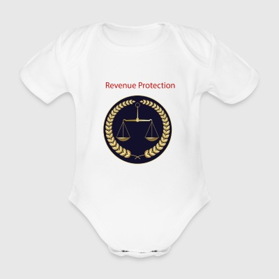 Badged Revenue Protection - Organic Short-sleeved Baby Bodysuit