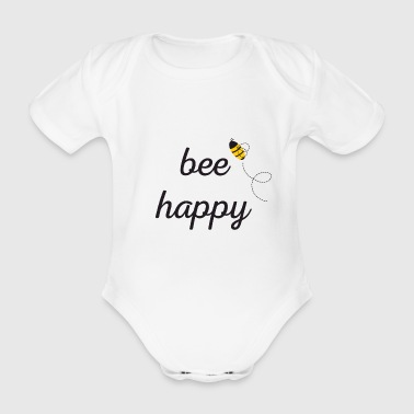 Bee Happy - Body ecologico per neonato a manica corta