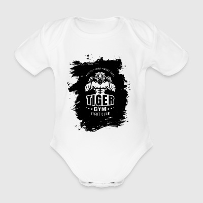 Tiger Gym - Baby Bio-Kurzarm-Body