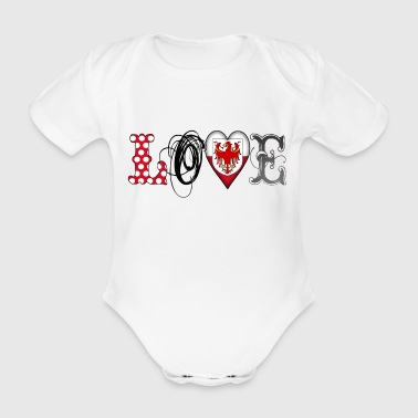Love Suedtirol Black - Baby Bio-Kurzarm-Body