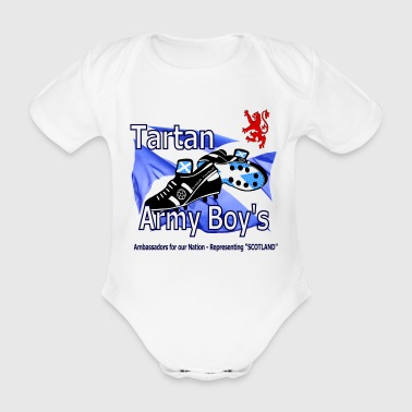 tartan army boys scotland Ambassadors - Organic Short-sleeved Baby Bodysuit
