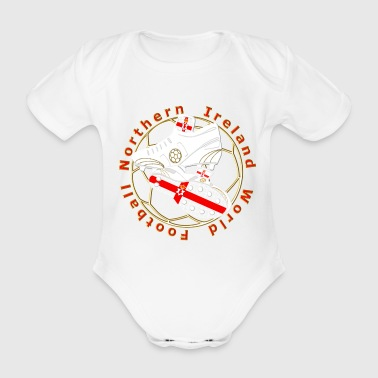 northern ireland red number 8 - Organic Short-sleeved Baby Bodysuit