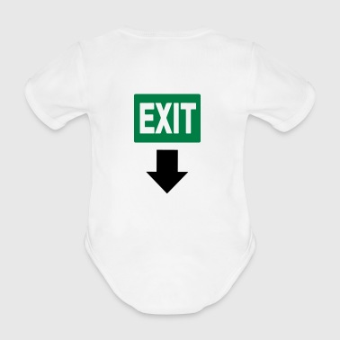Baby exit sign - Organic Short-sleeved Baby Bodysuit