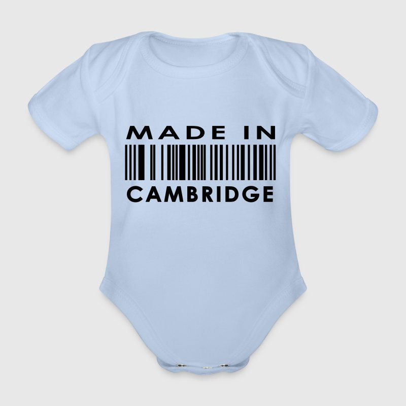 Made in Cambridge - Organic Short-sleeved Baby Bodysuit