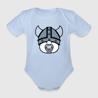 little viking - Organic Short-sleeved Baby Bodysuit