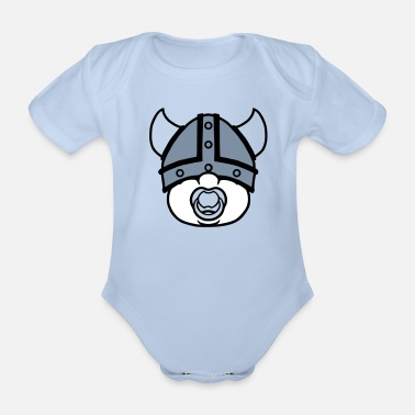 Boy little viking - Organic Short-sleeved Baby Bodysuit