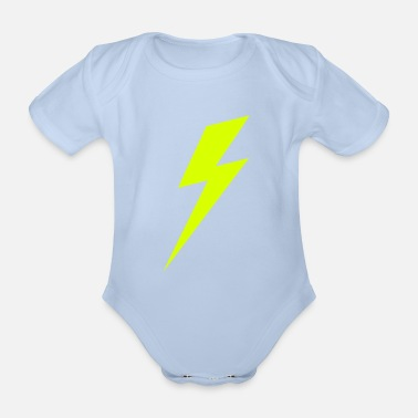Lightning Lightning Bolt VECTOR - Organic Short-sleeved Baby Bodysuit