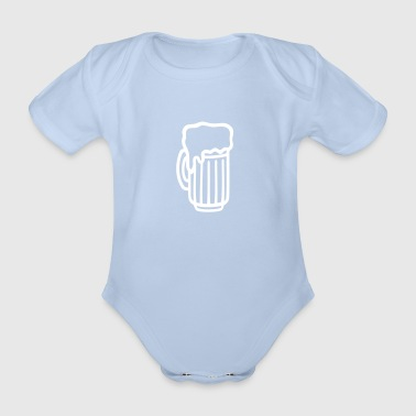 Beer glass - Organic Short-sleeved Baby Bodysuit