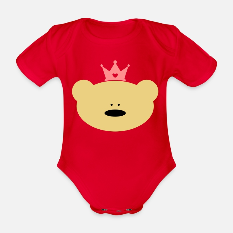 4dec4f3c77ed Teddy Bear Princess Baby Bodysuits Organic Short-Sleeved Baby ...