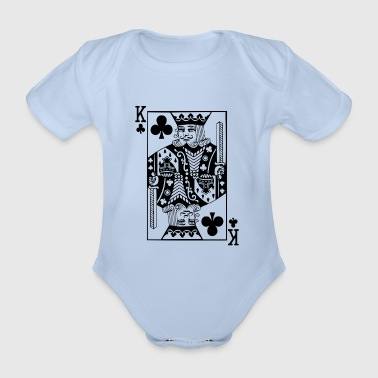 King Card black cross king card gift idea - Organic Short-sleeved Baby Bodysuit