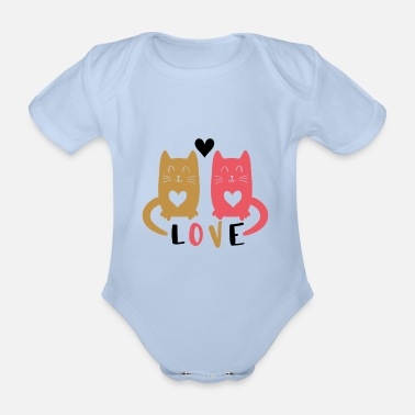 Cats In Love Cats in Love, verliebte Katzen - Baby Bio Kurzarmbody