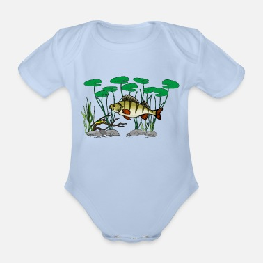 Perch Perch perch - Organic Short-Sleeved Baby Bodysuit